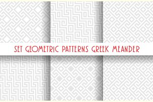 Set 6 Greek ornaments, Meander