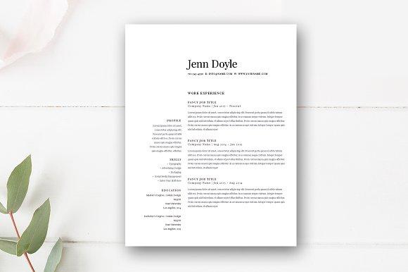modern resume template 3