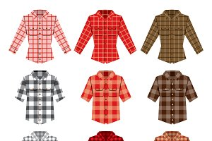 Lumberjack check shirt vector