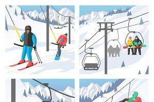 Snowboarder sitting vector