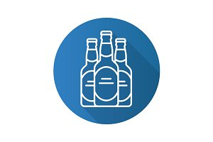 Beer bottles icon. Vector