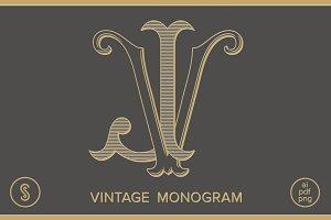 JV Monogram VJ Monogram