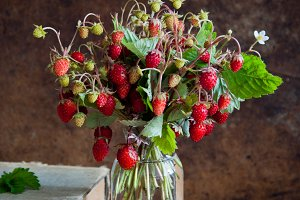 Strawberries and old books