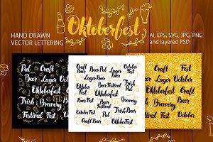 Oktoberfest Lettering Design Set