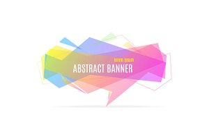 Banner Geometric Trendy. Vector