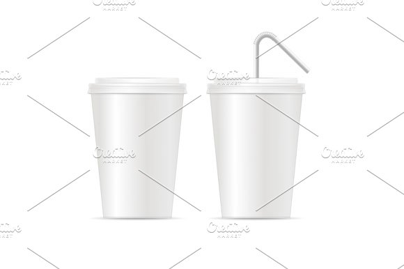 Paper Cup Template For Soda Set