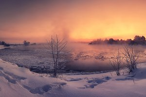 Freezing sunrise