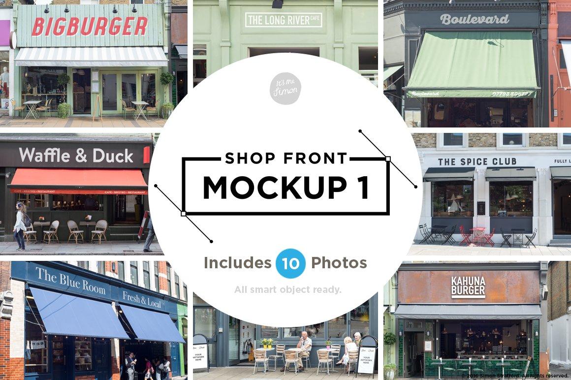 Shop Facade Mockups Product Mockups Creative Market