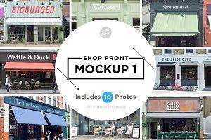 Shop facade mockups