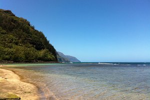 Beautiful Beach in Kauai, Hawaii