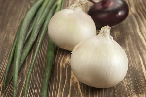 Red and white 'sweet' onions