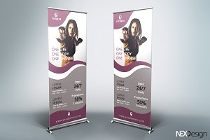 Gym Roll-Up Banner - SB