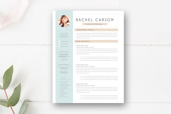 Opposenewapstandardsus  Seductive Resume Templates  Creative Market With Foxy Resume Templates By Stephanie Design  With Nice References For Resume Format Also Do You Put High School On Resume In Addition Hvac Resumes And Self Employed Resume Sample As Well As Sample Academic Resume Additionally Emergency Nurse Resume From Creativemarketcom With Opposenewapstandardsus  Foxy Resume Templates  Creative Market With Nice Resume Templates By Stephanie Design  And Seductive References For Resume Format Also Do You Put High School On Resume In Addition Hvac Resumes From Creativemarketcom