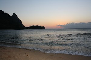 Kauai Beach at Sunset