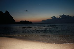 Hawaiian Beach at Night