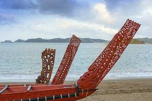 Traditional Maori boats