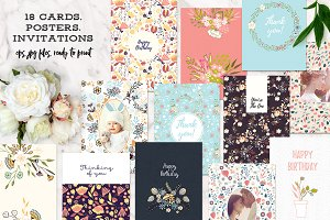 18 Cards, Invitations or Posters