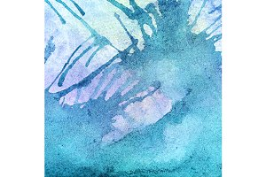 Watercolor turquoise cyan texture