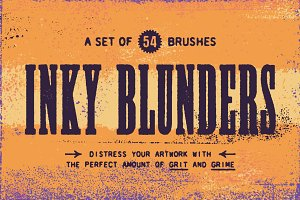 Inky Blunders | Distressing Brushes