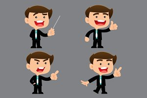 business man cartoon set