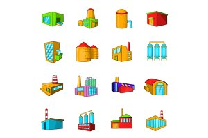 Industrial building plants set