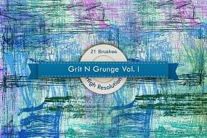 Grit N Grunge V.1 Photoshop Brushes