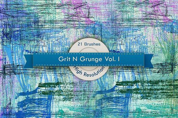 Grit N Grunge V.1 Photoshop Brushes - Brushes