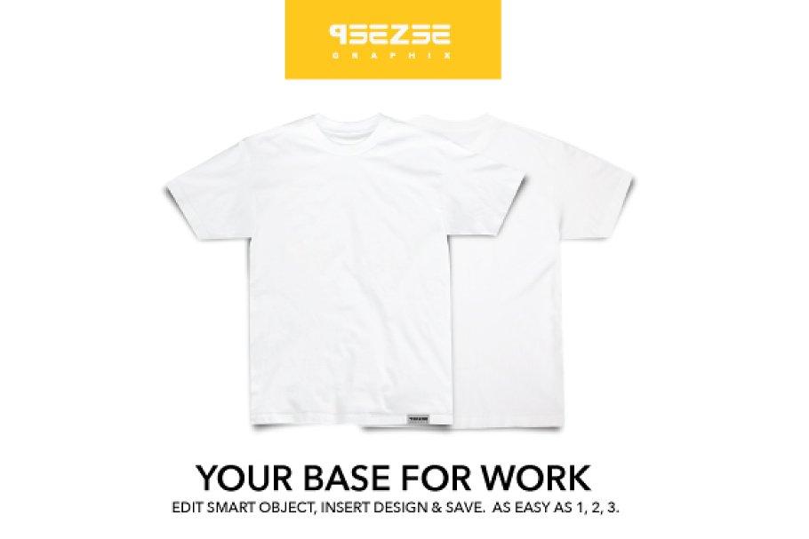 7c4fb34f T-shirt mock up ~ Product Mockups ~ Creative Market