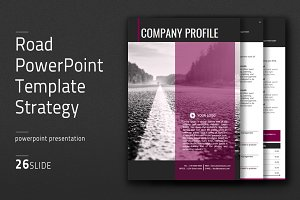 Road PowerPoint Template Vertical