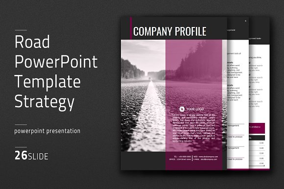 Road powerpoint template vertical presentation templates road powerpoint template vertical presentation templates creative market toneelgroepblik Images