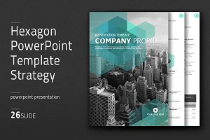 Hexagon PowerPoint Template Vertical