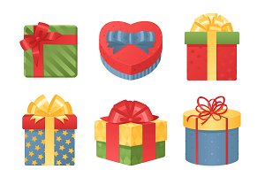 3d gift boxes vector