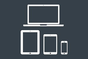 Minimal Apple Device Icons