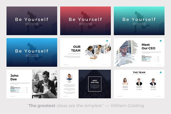 elevation minimal powerpoint theme presentation templates