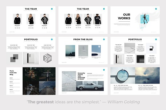 elevation minimal powerpoint theme presentation templates