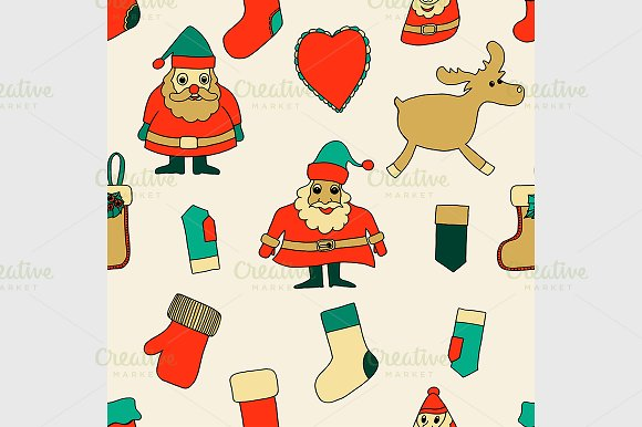 Merry Christmas. Seamless pattern. - Graphics