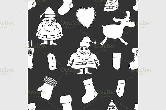 Merry Christmas. Seamless pattern. - Graphics