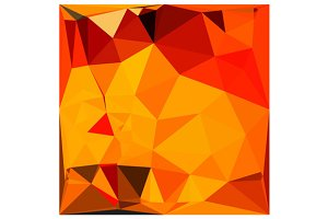 Cadmium Yellow Abstract Low Polygon