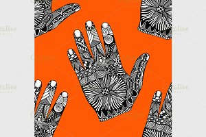 palm hand drawn