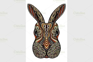 Tribal patterned Rabbit.