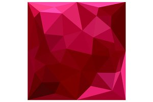 Firebrick Red Abstract Low Polygon