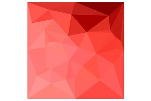 Medium Violet Red Abstract Polygon