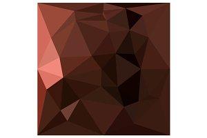 Saddle Brown Abstract Low Polygon