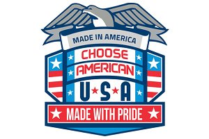 Made In America Patriotic Shield