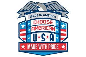 Made In America Patriotic Shield