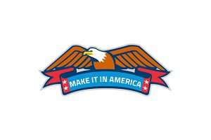 Make It In America Banner Eagle