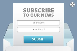 Subscribe to newsletter web template