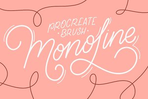iPad Lettering brush - Monoline