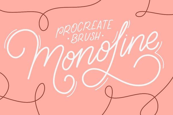 iPad Lettering brush - Monoline
