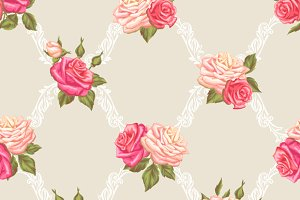 Patterns with vintage roses.